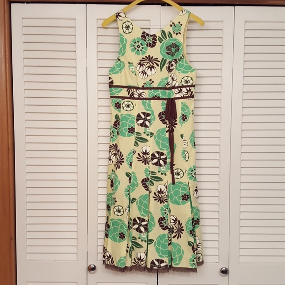 LIDA BADAY Dresses & Skirts - LIDA BADAY YELLOW FLORAL PRINT BEAUTIFUL DRESS